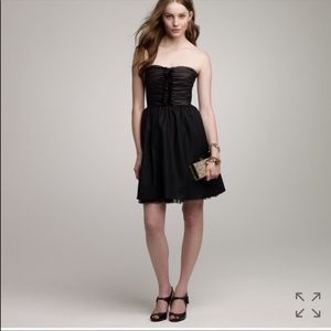 J.Crew Collection Black Strapless party dress 2